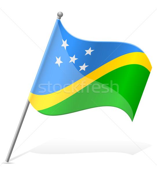 flag of Solomon Islands vector illustration Stock photo © konturvid