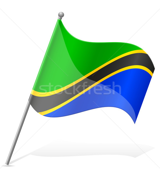 Flagge Tansania isoliert weiß Welt Welt Stock foto © konturvid