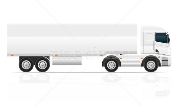 big truck tractor for transportation cargo vector illustration Stock photo © konturvid