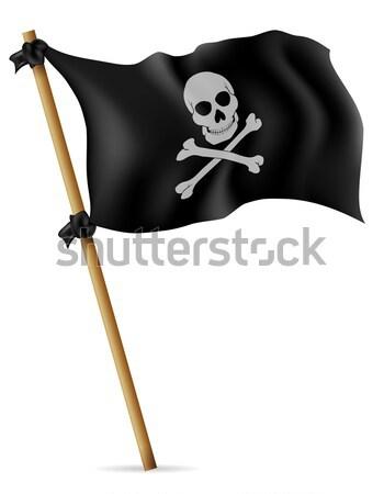 Meer Kreuz Zeichen Schiff Silhouette Kopf Stock foto © konturvid