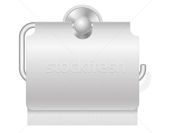 toilet paper on holder vector illustration Stock photo © konturvid