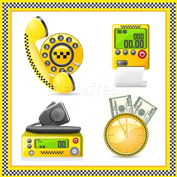 icons are symbols of taxi Stock photo © konturvid