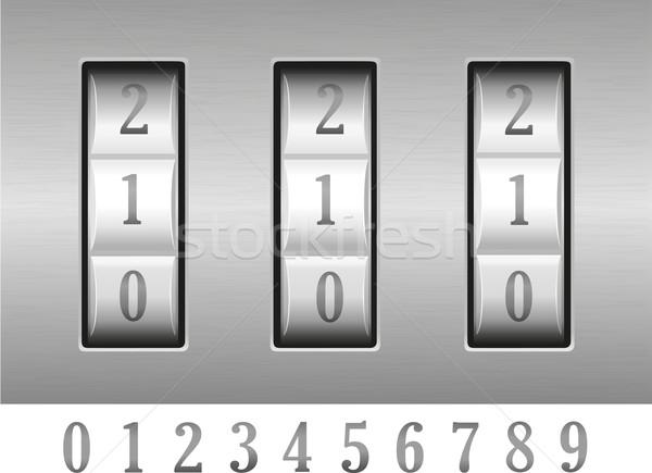 combination lock vector illustration Stock photo © konturvid