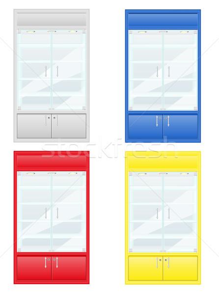 color showcase of shop equipment vector illustration Stock photo © konturvid