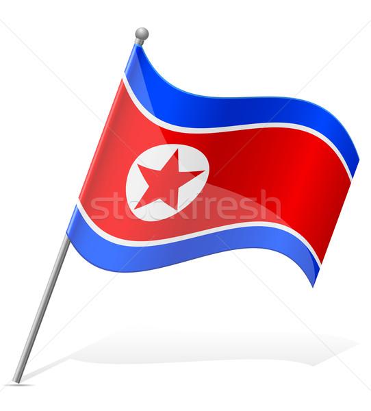 flag of North Korea vector illustration Stock photo © konturvid