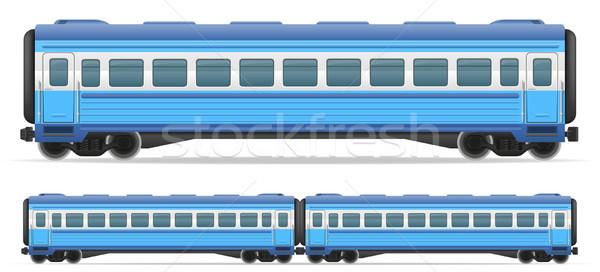 railway carriage train vector illustration Stock photo © konturvid
