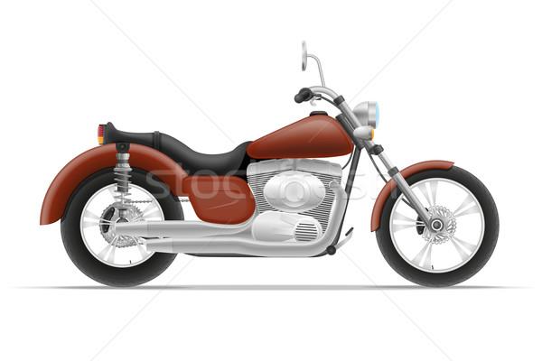 Moto isolato bianco strada luce velocità Foto d'archivio © konturvid