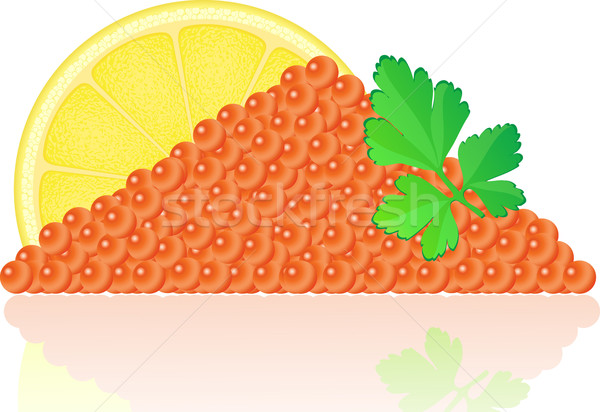 Rouge caviar citron persil poissons mer Photo stock © konturvid