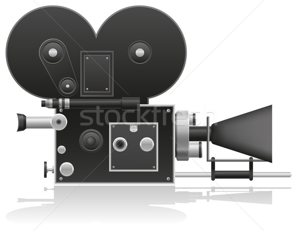 old movie camera vector illustration Stock photo © konturvid
