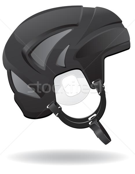 hockey helmet vector illustration Stock photo © konturvid