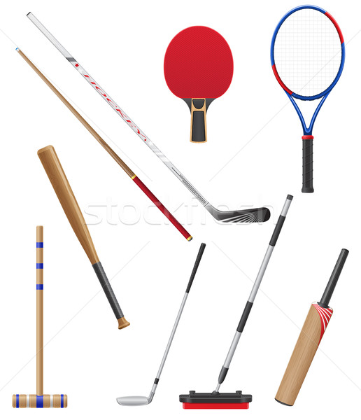 bits and stick to sports vector illustration Stock photo © konturvid