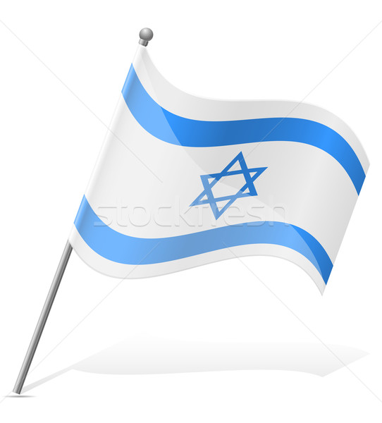 flag of Israel vector illustration Stock photo © konturvid