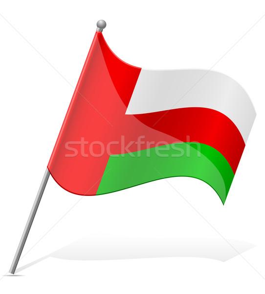 flag of Oman vector illustration Stock photo © konturvid