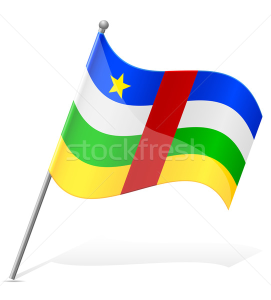 flag of Central African Republic vector illustration Stock photo © konturvid