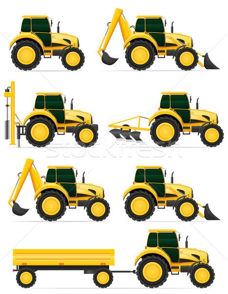Ayarlamak simgeler sarı yalıtılmış beyaz arka plan Stok fotoğraf © konturvid