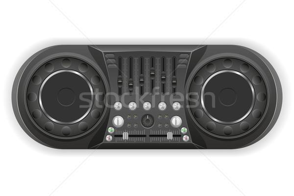 Panel konzol hang keverő izolált fehér Stock fotó © konturvid