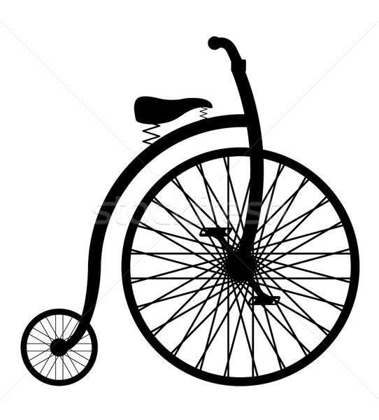 Bicikli öreg retro klasszikus ikon stock Stock fotó © konturvid