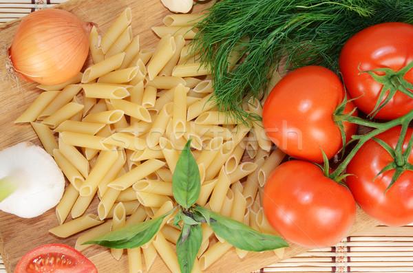 Photo stock: Pâtes · légumes · cuisson · vert · déjeuner · légumes
