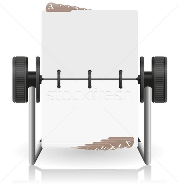 Kártya katalógus izolált fehér iroda papír Stock fotó © konturvid