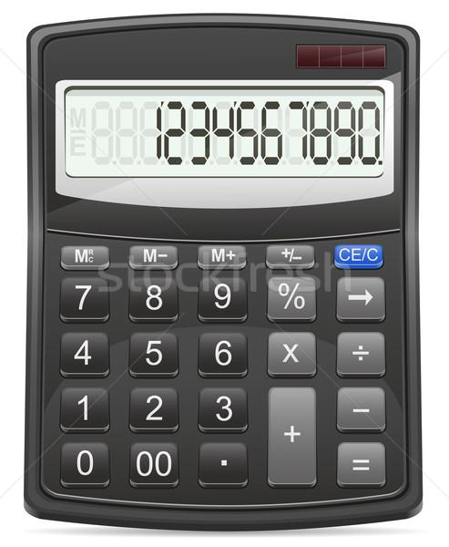 Kalkulator odizolowany biały komputera podpisania Dolar Zdjęcia stock © konturvid