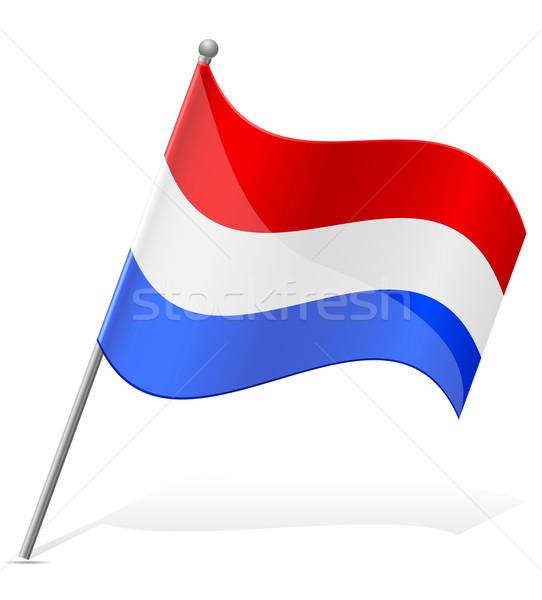 flag of Holland vector illustration Stock photo © konturvid