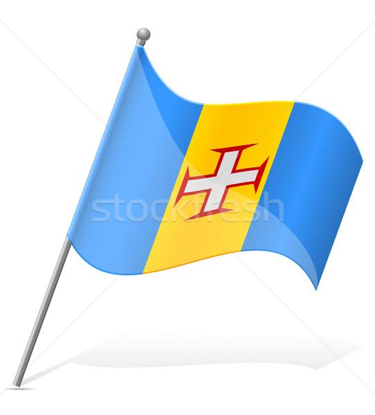 flag of Madeira vector illustration Stock photo © konturvid
