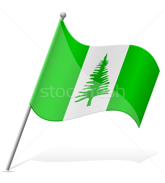flag of Norfolk Islands vector illustration Stock photo © konturvid