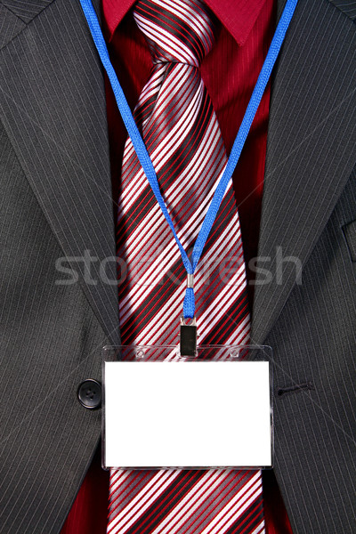 card empty ID badge Stock photo © konturvid