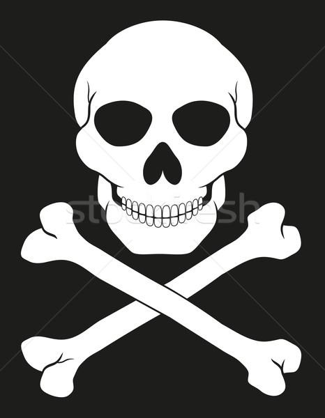 pirate skull and crossbones vector illustration Stock photo © konturvid