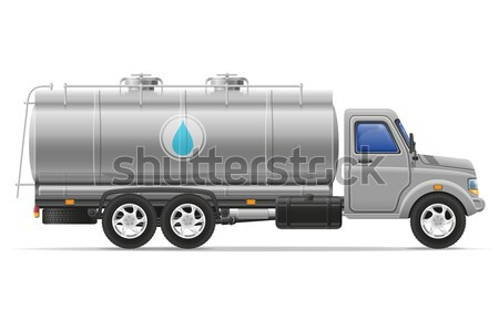 truck semi trailer delivery and transportation of purified drink Stock photo © konturvid