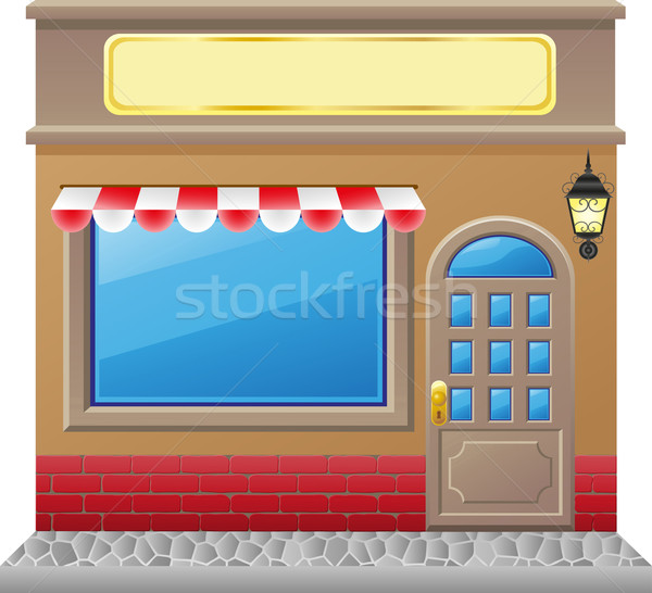 shop facade with a showcase Stock photo © konturvid
