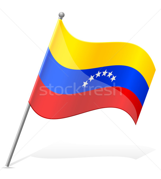 flag of Venezuela vector illustration Stock photo © konturvid