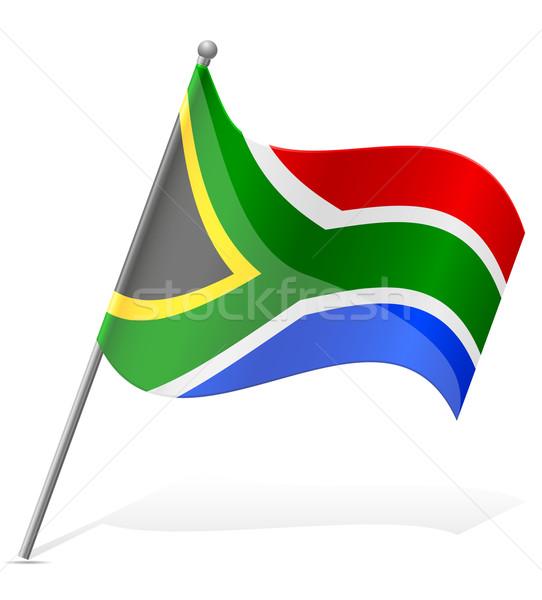 Zászló dél-afrikai köztársaság izolált fehér földgömb Stock fotó © konturvid