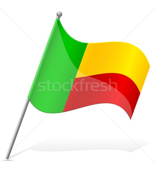 Bandeira Benin isolado branco globo mundo Foto stock © konturvid