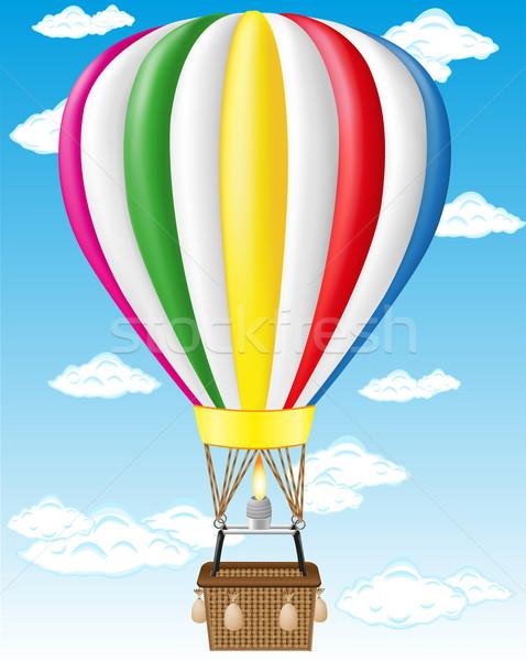 hot air balloon vector illustration Stock photo © konturvid