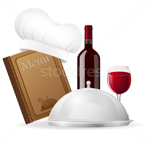 set icons for restaurant vector illustration Stock photo © konturvid