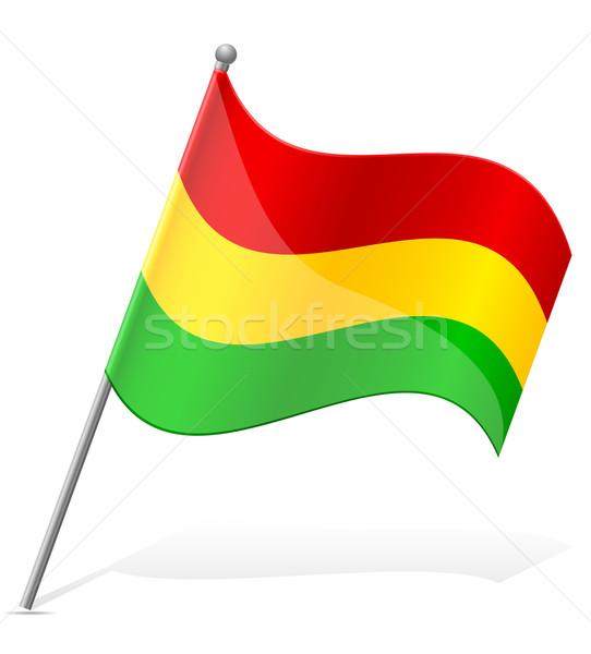 フラグ ボリビア 孤立した 白 世界中 世界 ストックフォト © konturvid