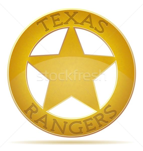 Estrellas Texas aislado blanco metal signo Foto stock © konturvid