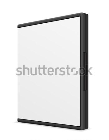 Cd kutu durum yalıtılmış beyaz Stok fotoğraf © konturvid