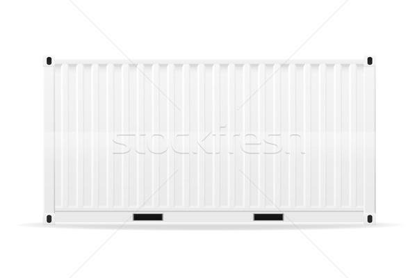 cargo container vector illustration Stock photo © konturvid