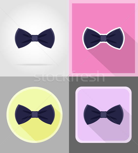 blue bow tie for men a suit flat icons vector illustration Stock photo © konturvid