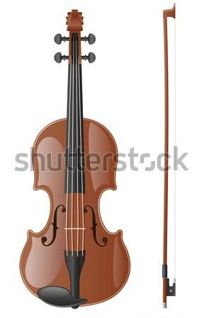 violin stock vector illustration Stock photo © konturvid