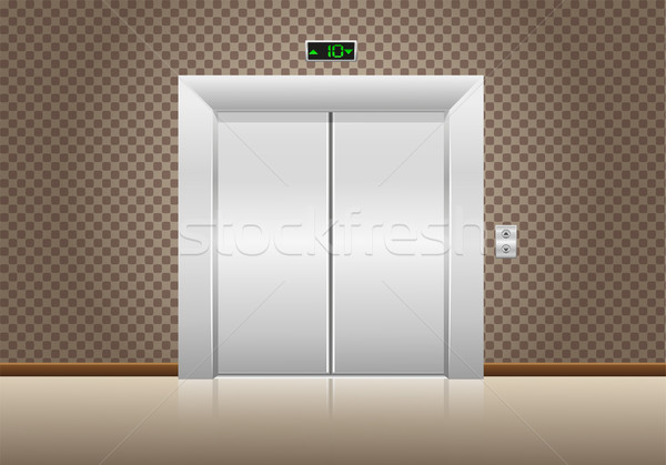 лифта дверей закрыто стены домой двери Сток-фото © konturvid