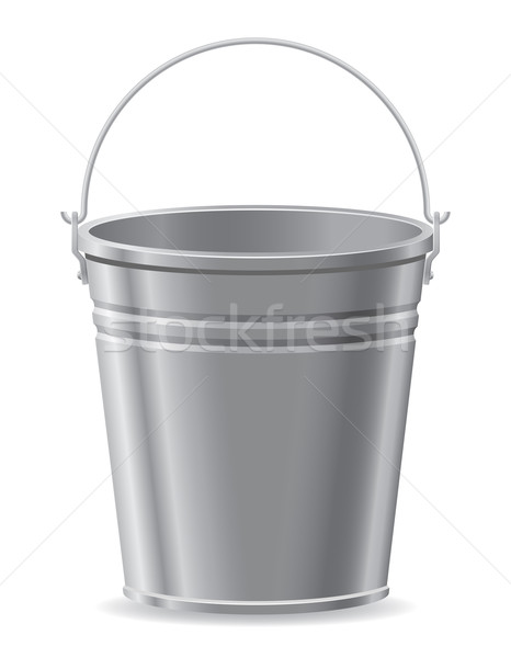 metal bucket vector illustration Stock photo © konturvid