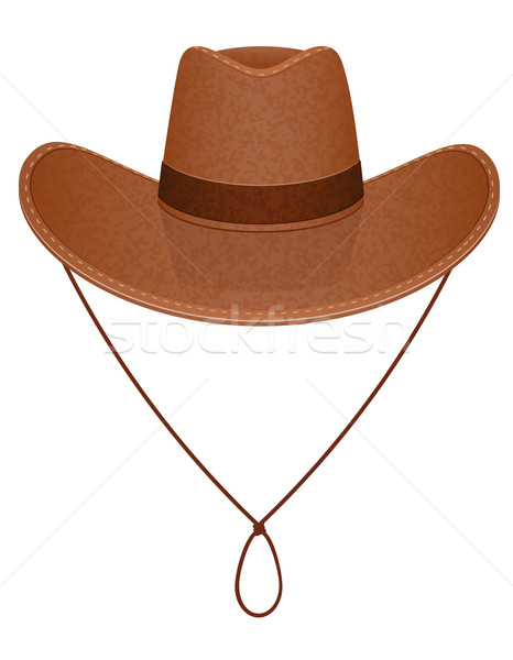 cowboy hat vector illustration Stock photo © konturvid