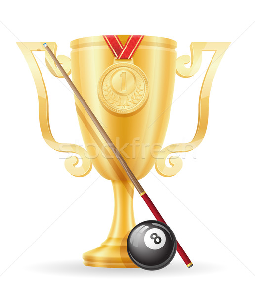 pool billiards cup winner gold stock vector illustration Stock photo © konturvid