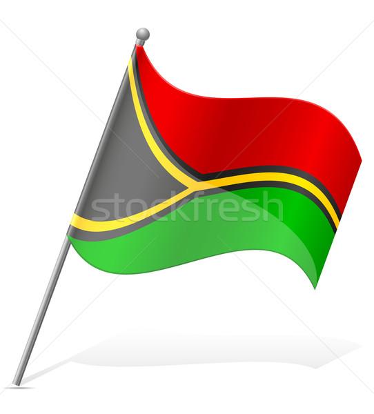 Bandeira Vanuatu isolado branco globo mundo Foto stock © konturvid