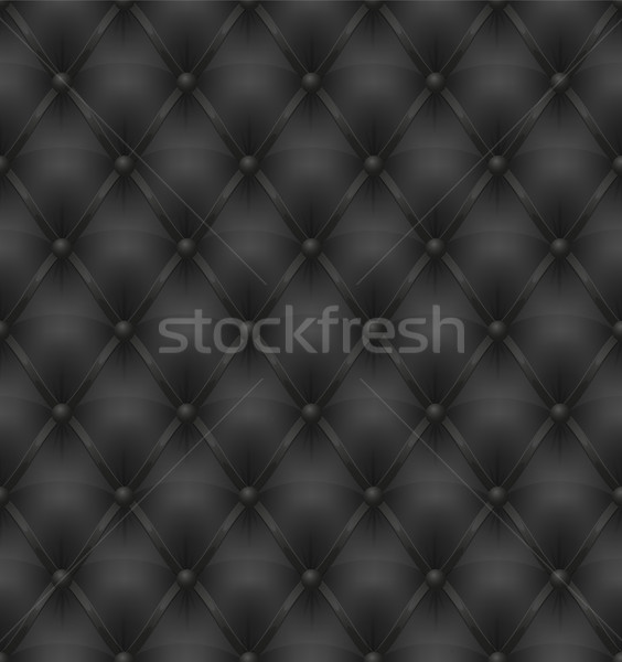 black leather upholstery seamless background Stock photo © konturvid