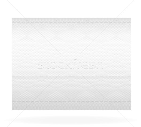Carta igienica isolato bianco sfondo clean WC Foto d'archivio © konturvid