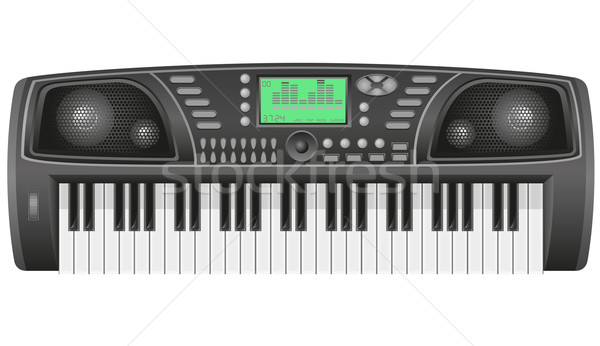 synthesizer vector illustration Stock photo © konturvid
